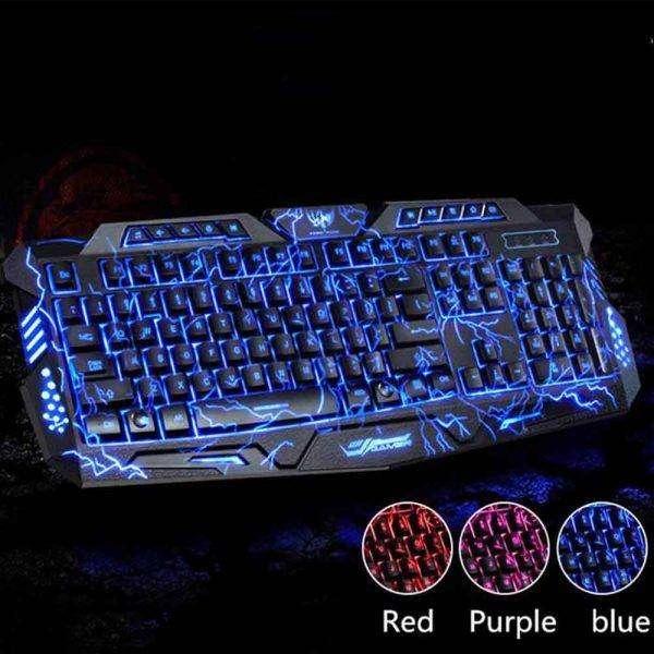 Teclado My Mobile Gamer Pc Usb Retroiluminado Mecánico Tricolor M200