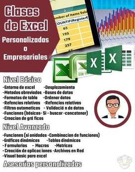 Clases de Excel (básico y avanzado)