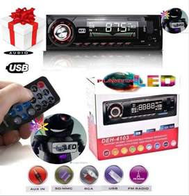 Radio Para Carro Con Bluetooh Integrado, Usb, Sd, Aux Fm.