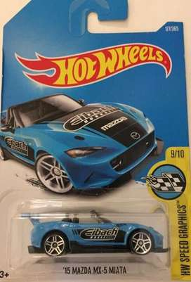 Hot Wheels Mazda MX5 MIATA Azul