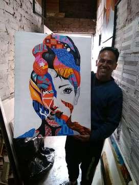 Cuadro al oleo pintor artistico