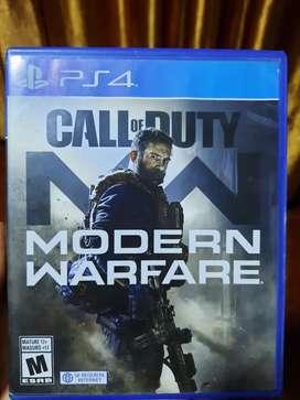Juego para play  4  call of duty modern warfare