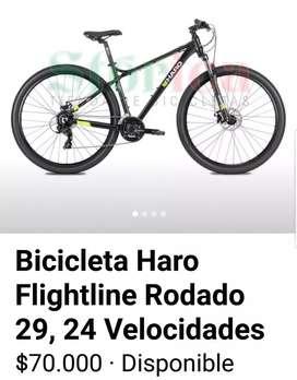 Bicicleta Haro R 29  24 velocidades.
