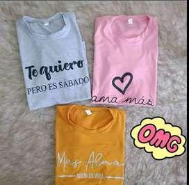 Camisetas en algodón licrado