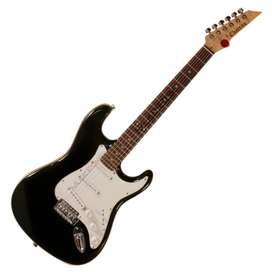 Chateau C08ST1 Guitarra electrica Stratocaster Negro