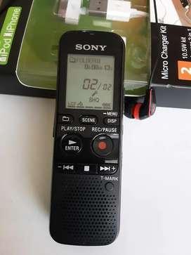 Grabadora digital sony 2 gb  con memoria de ampliacion mas de 200 hotras continuas