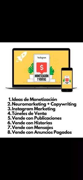 Curso sobre Monetización y Ventas en Instagram online.