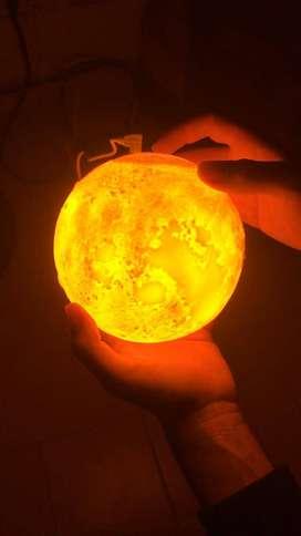 HUMIFICADOR DIFUSOR LUNA 3D LED DE TRES COLORES