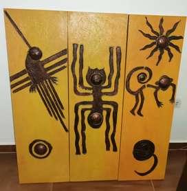 Cuadros decorativos  con motivos de las líneas de Nazca