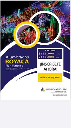 Tours turísticos (Recorridos de luces  Boyaca y Medellín)
