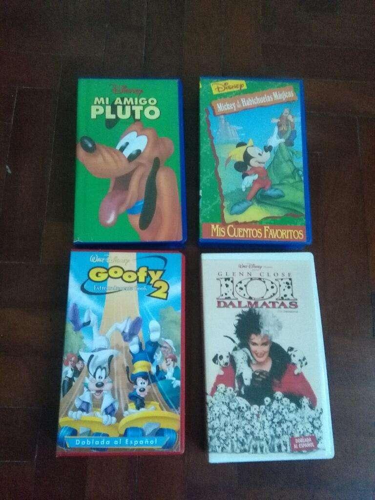 Lote 12 peliculas Vhs Video Original Disney Rey Leon Mickey Pluto Dona