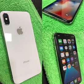 Iphone x 64GB Silver 10/10