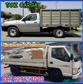 eliminación de desmonte y limpieza de techos y azotea y taxi carga