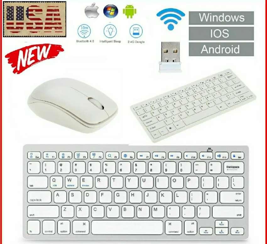 Combo teclado inalámbrico + mouse ultra delgado - compatible smartTv, Xbox, Playstation, computadores y más