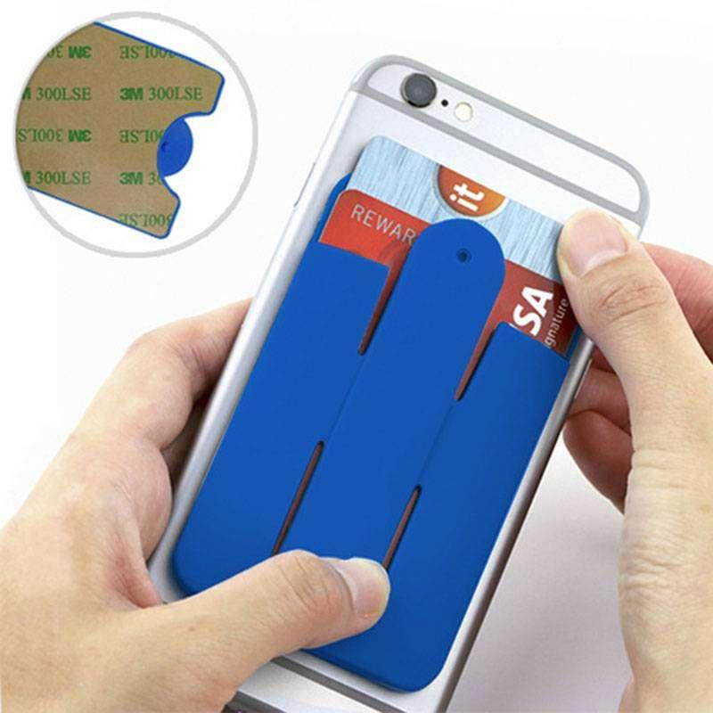 3 Bolsillos y sujetador Siliconado para Celulares Adhesivo 3M