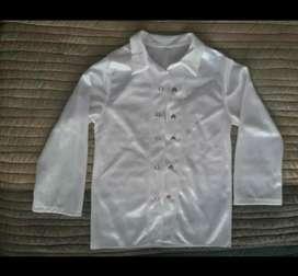 Camisa blanca infantil. Niños de 3 a 4 años. Poco uso