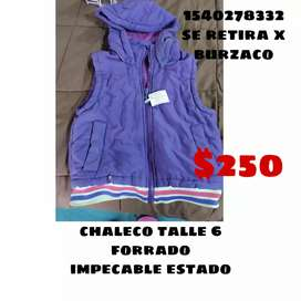 Chaleco talle 6