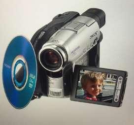 Vendo videocámara Sony handycam usada