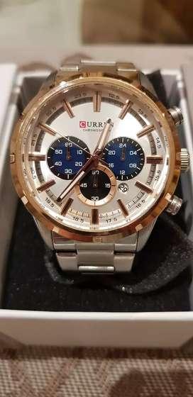 Reloj Curren Original con Caja Water Resistant Unique Desing Todo Funcional, Luna de Cristal Mineral Hardlex, Dial Japan