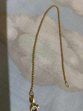 Hermosa pulsera de oro italiano 750 tejido militar  2.1 gramos  22 centimetros