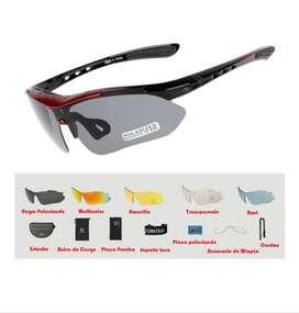 Gafas de sol ciclismo lentes intercambiables + UV400 + Lente Polarizado