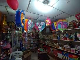 Liquidación de mercaderia de local de detalles y fiestas