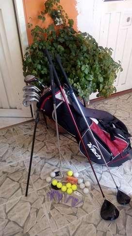 Talega y palos de golf