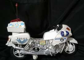 Antigua moto patrulla juguete policia años 80s desconozco estado funcion