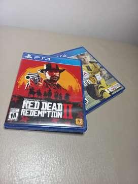 Red dead redemption 2 + FIFA 17. usados