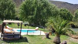 Cabaña tipo casa quinta privada en valle grande San Rafael Mendoza