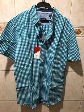 Camisa nueva manga corta, marca Izod