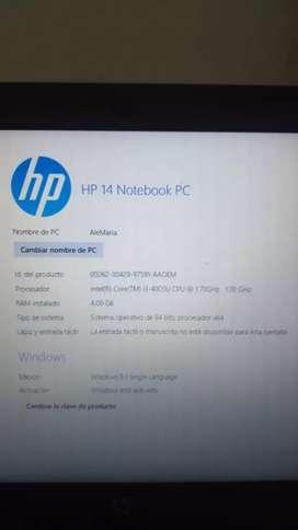 """Portatil HP 14"""" Ref R020LA"""
