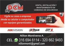 Venta, instalación y mantenimiento de cámaras de seguridad