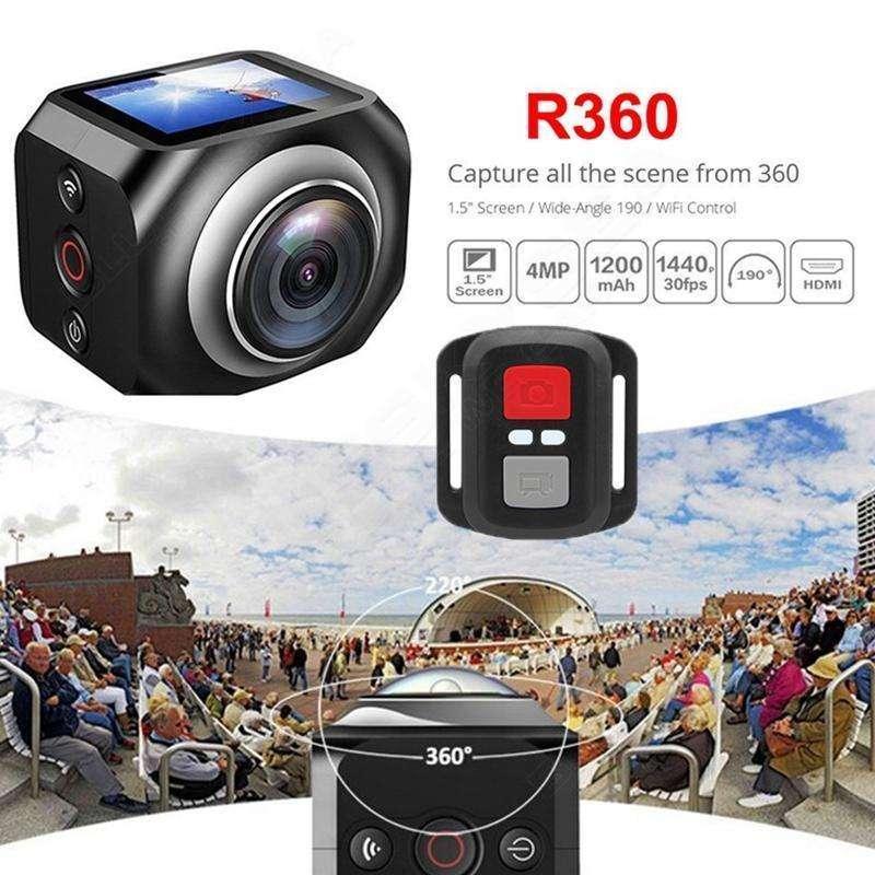 Envio Gratis Cámara Video VR360 Sport Wifi Control Remoto y Accesorios 0