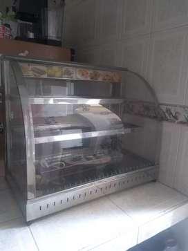 Se vende vitrina para comidas nueva, nunca se uso acero inoxidable