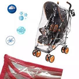 Forro plastico protector de lluvia para coche de bebe
