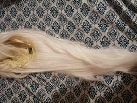 Peluca blanca kanekalon