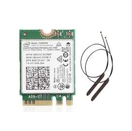 Tarjeta Wifi y Bluetooth 4.0 M2 Ngff Intel Ac3165 + 2 Antenas