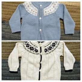 2 Sweater infantiles. Bebés de 6 a 9 meses