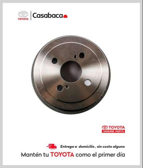 Tambor de freno para vehículos Toyota - Repuestos Casabaca Hilux - Fortuner - Corolla - Rav - Yaris - 4Runner - Prado 0