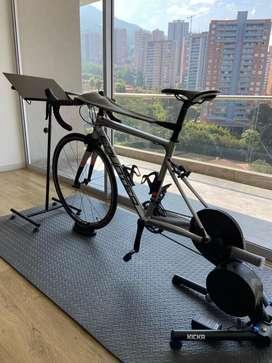 Tapete ejercicio mat bike piso multiproposito simulador yoga