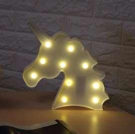 Lampara de unicornio con luces led