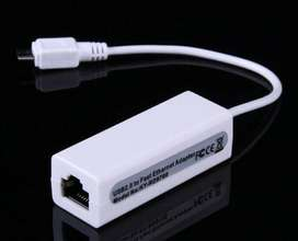 Micro Usb 2.0 A Fast Ethernet 10/100 Red Rj45 Adaptador Lan Tarjeta Dongle 100 Mb