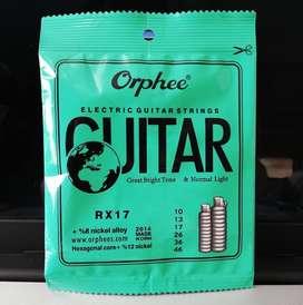cuerdas de guitarra eléctrica orphee originales