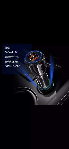 Cargador celular auto camioneta ultra rapido