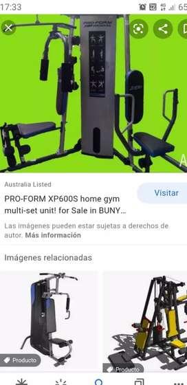 Vendo multi gym . Pro form xp 600s...msj al nro publicado