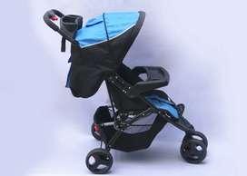 Coche Jumpy 4 ruedas negro/azul