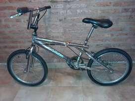 Bicicleta cromada para niños rodado 20