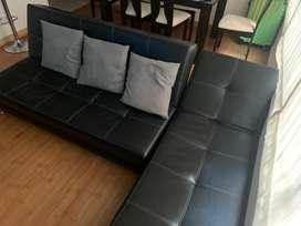 Mueble en L Cuero