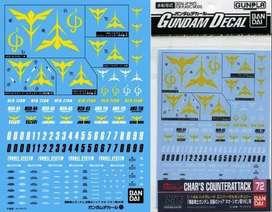 GUNDAM DECAL FOR (1/144) GUNDAM CHAR'S COUNTER ATTACK NEO ZEON